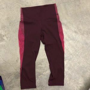 Lululemon  cropped Aubergine pants